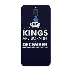 Kings are born in December design all side printed hard back cover by Motivate box Huawei Honor Matte 10 Lite hard plastic all side printed back cover.