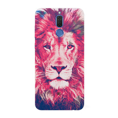 Zoomed pixel look of Lion design Huawei Honor Matte 10 Lite hard plastic all side printed back cover.