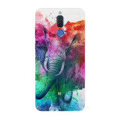 colourful portrait of Elephant Huawei Honor Matte 10 Lite hard plastic all side printed back cover.