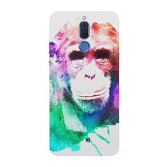 Colourful Monkey portrait Huawei Honor Matte 10 Lite hard plastic all side printed back cover.