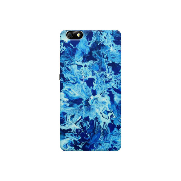 Abstract blue pattern Huwaei Honor 4X printed back cover