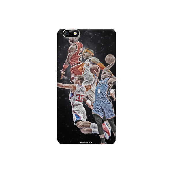 Basket ball design Huwaei Honor 4X printed back cover
