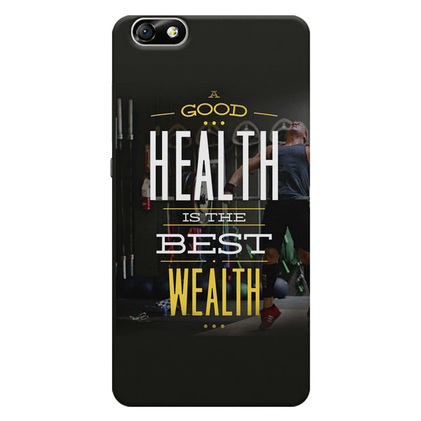 A good health is the best wealth Huwaei Honor 4X printed back cover