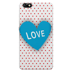 Polka Dotted Pattern Heart Huwaei Honor 4X printed back cover