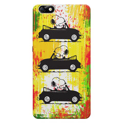 Snoopy the Dog Driving Car  Huwaei Honor 4X printed back cover