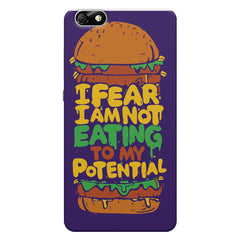 Foodie Quotes Colorful Burger  Huwaei Honor 4X printed back cover