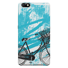 Retro and Funky Bicycle Design Huwaei Honor 4X printed back cover