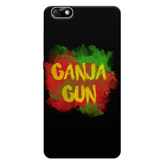 Ganja Gun Abstract Art Text Quote Huwaei Honor 4X printed back cover