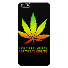 Love The Life You Live Bob Marley Ganja Quote Huwaei Honor 4X printed back cover