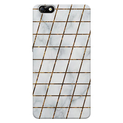 Lined Marble Geometric Pattern Huwaei Honor 4X printed back cover