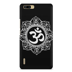 Ethnic Pattern with OM inscribed Huwaei Honor 6 plus hard plastic printed back cover
