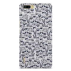 Cute Pandas all over the cover design    Huwaei Honor 6 plus hard plastic printed back cover