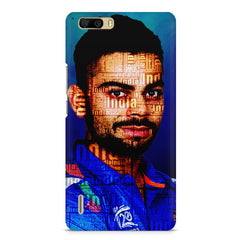 Virat Kohli India inscribed design    Huwaei Honor 6 plus hard plastic printed back cover