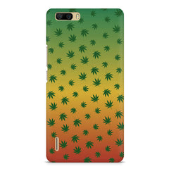 Multicolour leaf overall design Huwaei Honor 6 plus hard plastic printed back cover