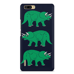 Stegosaurus cartoon design Huwaei Honor 6 plus hard plastic printed back cover
