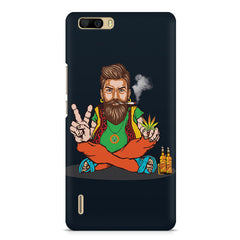 Man smoking joint pattern Huwaei Honor 6 plus hard plastic printed back cover