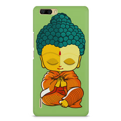 Miniature Buddha Caricature Huwaei Honor 6 plus hard plastic printed back cover