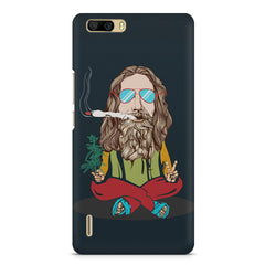 Baba Smoking Cigar design Huwaei Honor 6 plus hard plastic printed back cover