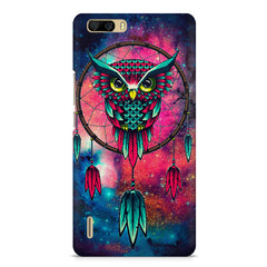 Good luck Owl sketch design    Huwaei Honor 6 plus hard plastic printed back cover