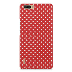 Cute hearts all over the cover design    Huwaei Honor 6 plus hard plastic printed back cover