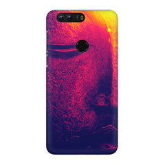 Half red face sculpture  Huawei Honor 8 Pro  printed back cover