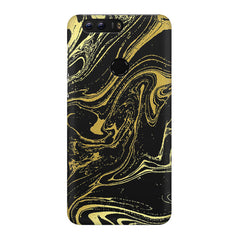 Golden black marble design Huawei Honor 8 Pro  printed back cover