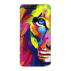 Colourfully Painted Lion design,  Huawei Honor 8 Pro  printed back cover