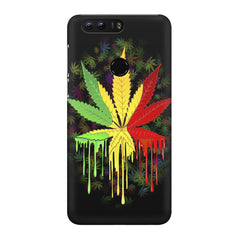 Marijuana colour dripping design Huawei Honor 8 all side printed hard back cover by Motivate box Huawei Honor 8 hard plastic printed back cover.