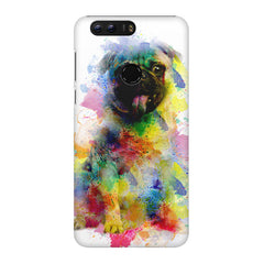 Colours splashed pug Huawei Honor 8 all side printed hard back cover by Motivate box Huawei Honor 8 hard plastic printed back cover.