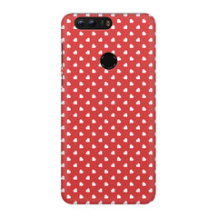 Cute hearts all over the cover design Huawei Honor 8 hard plastic printed back cover/case Huawei Honor 8 hard plastic printed back cover.
