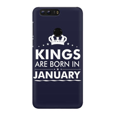 Kings are born in January design Huawei Honor 8 all side printed hard back cover by Motivate box Huawei Honor 8 hard plastic printed back cover.