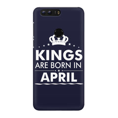 Kings are born in April design Huawei Honor 8 all side printed hard back cover by Motivate box Huawei Honor 8 hard plastic printed back cover.