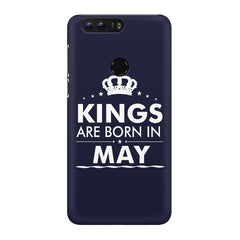 Kings are born in May design Huawei Honor 8 all side printed hard back cover by Motivate box Huawei Honor 8 hard plastic printed back cover.