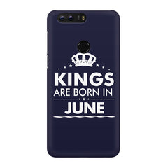 Kings are born in June design Huawei Honor 8 all side printed hard back cover by Motivate box Huawei Honor 8 hard plastic printed back cover.