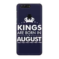 Kings are born in August design Huawei Honor 8 all side printed hard back cover by Motivate box Huawei Honor 8 hard plastic printed back cover.
