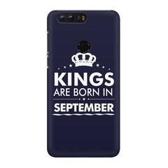 Kings are born in September design Huawei Honor 8 all side printed hard back cover by Motivate box Huawei Honor 8 hard plastic printed back cover.