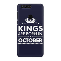 Kings are born in October design Huawei Honor 8 all side printed hard back cover by Motivate box Huawei Honor 8 hard plastic printed back cover.