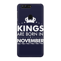 Kings are born in November design Huawei Honor 8 all side printed hard back cover by Motivate box Huawei Honor 8 hard plastic printed back cover.