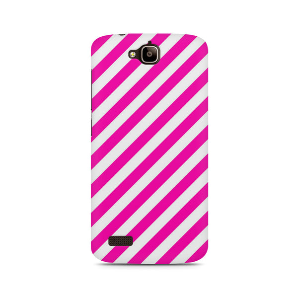 Pink diagonal lines Huwaei Honor Holly printed back cover