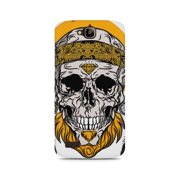 Tribal Skull Illustration Huwaei Honor Holly printed back cover