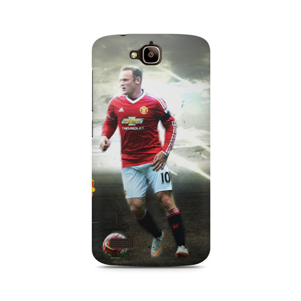 Machester United Wayne Rooney Huwaei Honor Holly printed back cover