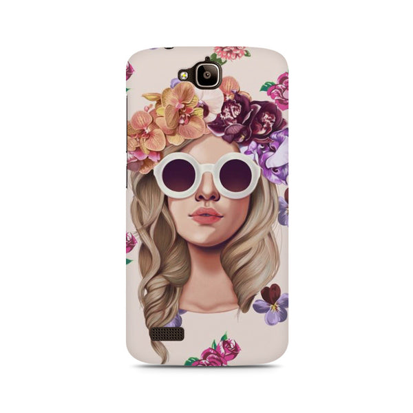 Floral Girl Huwaei Honor Holly printed back cover