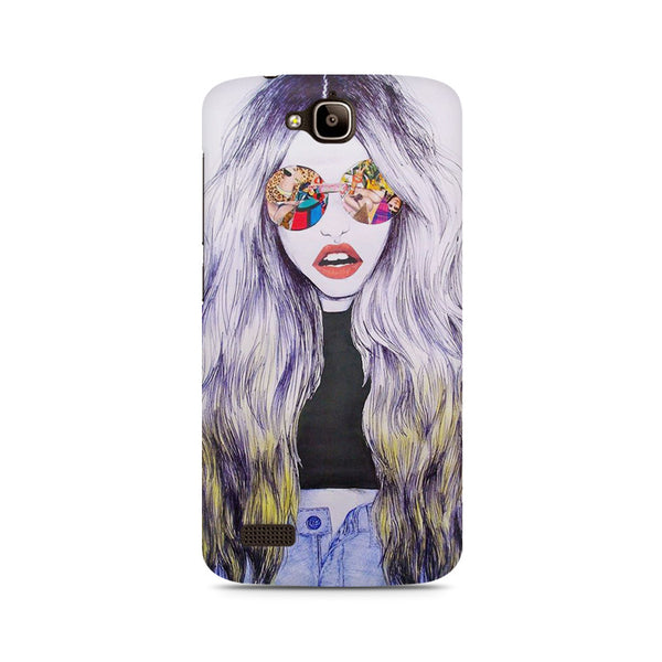 Classy girl with shades Huwaei Honor Holly printed back cover