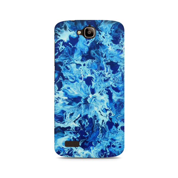 Abstract blue pattern Huwaei Honor Holly printed back cover