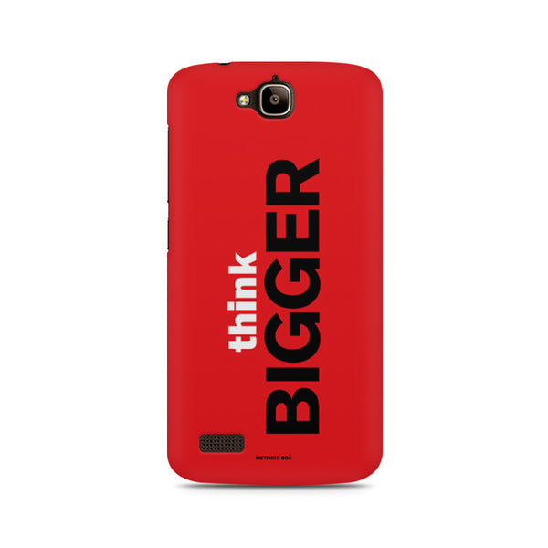 Think Bigger- For entrepreneurs Huwaei Honor Holly printed back cover