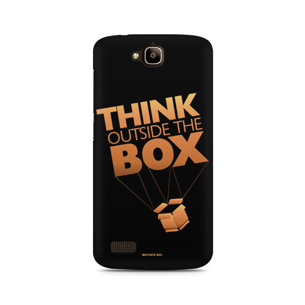 Think Outside the box- entrepreneur lines Huwaei Honor Holly printed back cover