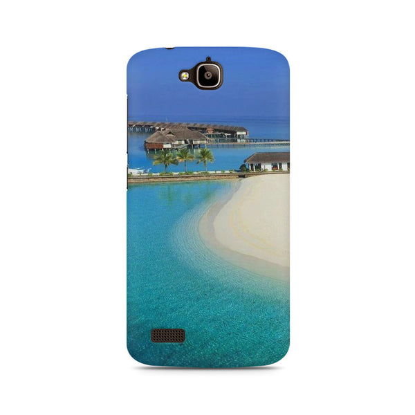 Beach and island Huwaei Honor Holly printed back cover