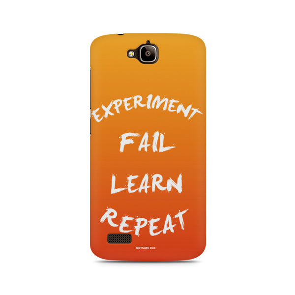 Experiment Fail Learn Repeat-Entrepreneur Quotes Huwaei Honor Holly printed back cover