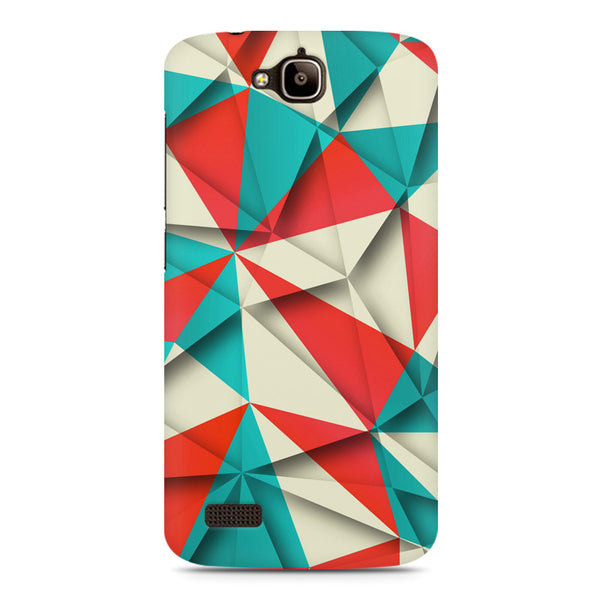 3D Colourful shapes Huwaei Honor Holly printed back cover
