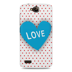 Polka Dotted Pattern Heart Huwaei Honor Holly printed back cover